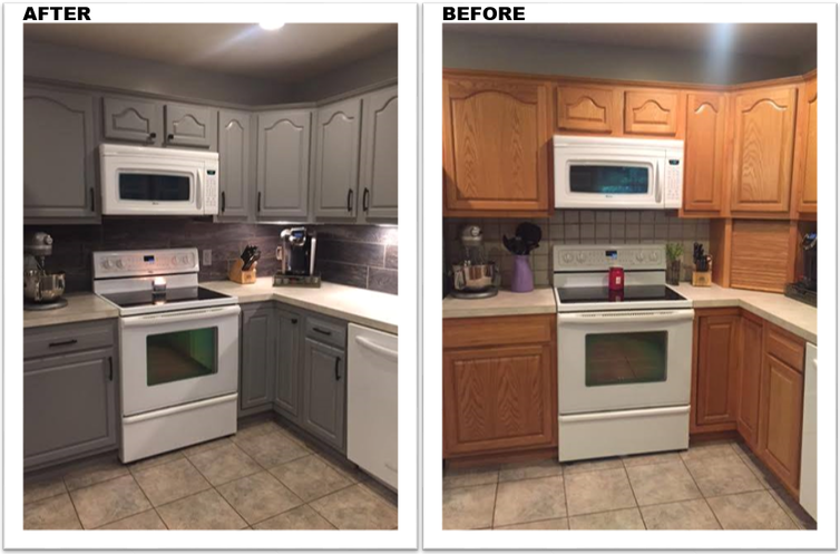 Kitchen cabinet painting grand rapids mi before and after